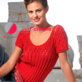 knitted fishnet blouse summer knitting schemes